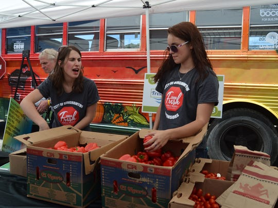 The North Side Fresh Mobile Market launched Wednesday outside the Binghamton Plaza on the city's North Side.