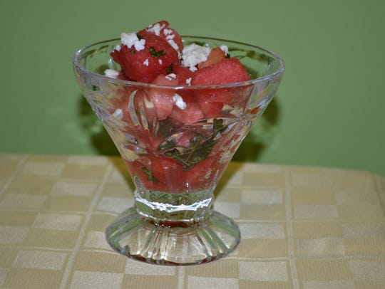 Basil-Infused Watermelon and Tomato