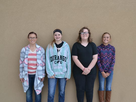 Capitan High School Students of the Month. Pictured,