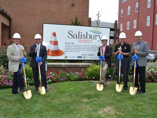 From left, Wicomico County Executive Bob Culver, Salisbury