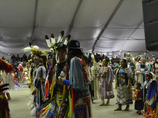 Dancers at the 26th Annual Morongo Thunder & Lightning Pow Wow at the Morongo Casino Resort & Spa on Saturday, September 24, 2016.