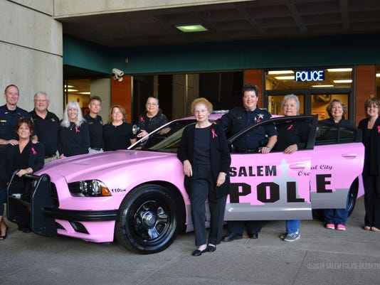 Pink cruiser unveiled for Salem Police Department