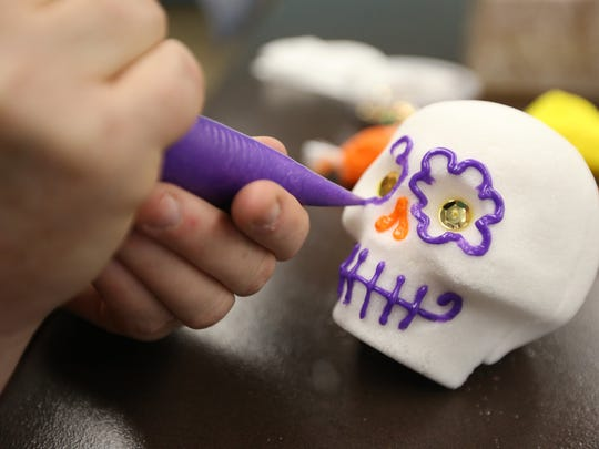 Caller-Times file photo The Garcia Center Arts & Education Center will host a sugar skull workshop on Oct. 21 and 22 leading up to Dia de Los Muertos.