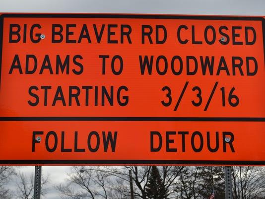 Big Beaver Road is reopening