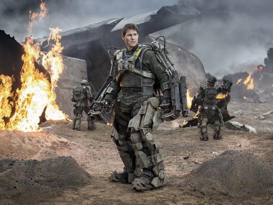 "Tom Cruise stars in the 2014 sci-fi adventure ""Edge of Tomorrow."""