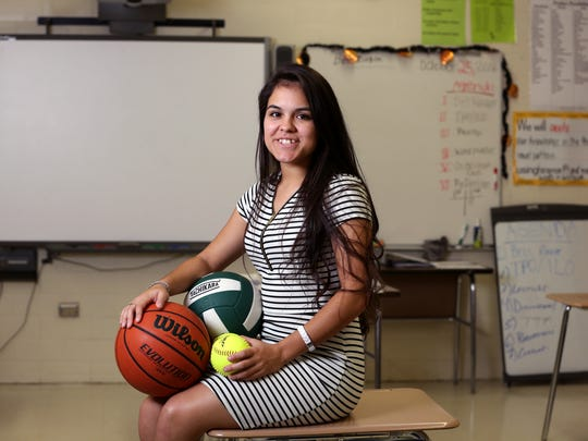 Falfurrias High School student Pamela Saenz was chosen as a Corpus Christi Caller-Times/Citgo Distinguished Scholar in the service and leadership category. She is a leader both in sports and in the classroom.