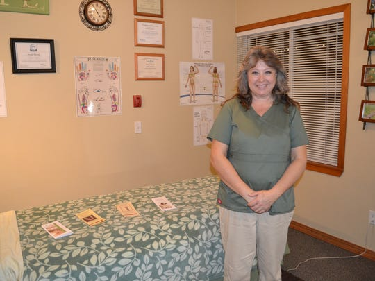 Brenda Windom welcomes clients to her new massage therapy studio on Railroad Avenue in Shelton. Cedar Bodywork & Massage is open Monday through Friday during regular business hours.
