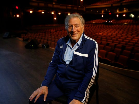 Singer Tony Bennett relaxes in Ruby Diamond Concert before is knockout show in February as part of Opening Nights Performing Arts festival.