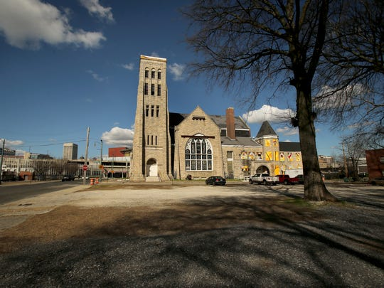 The city of Memphis is preparing to build a new I Am A Man Plaza on this surface lot adjacent to Clayborn Temple in Downtown honoring Martin Luther King Jr. and sanitation workers nearly 50 years after their 1968 strike and King's assassination.  (Nikki Boertman/The Commercial Appeal)