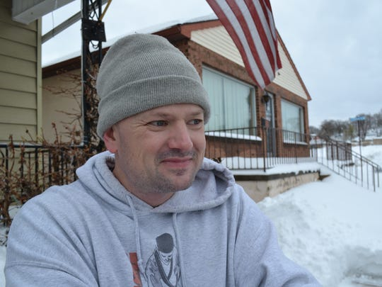 West York resident Thomas Koons takes a break from shoveling snow to talk about his experiences as someone who suffers from epileptic seizures. Koons hopes that medical marijuana will reduce or stop his seizures.