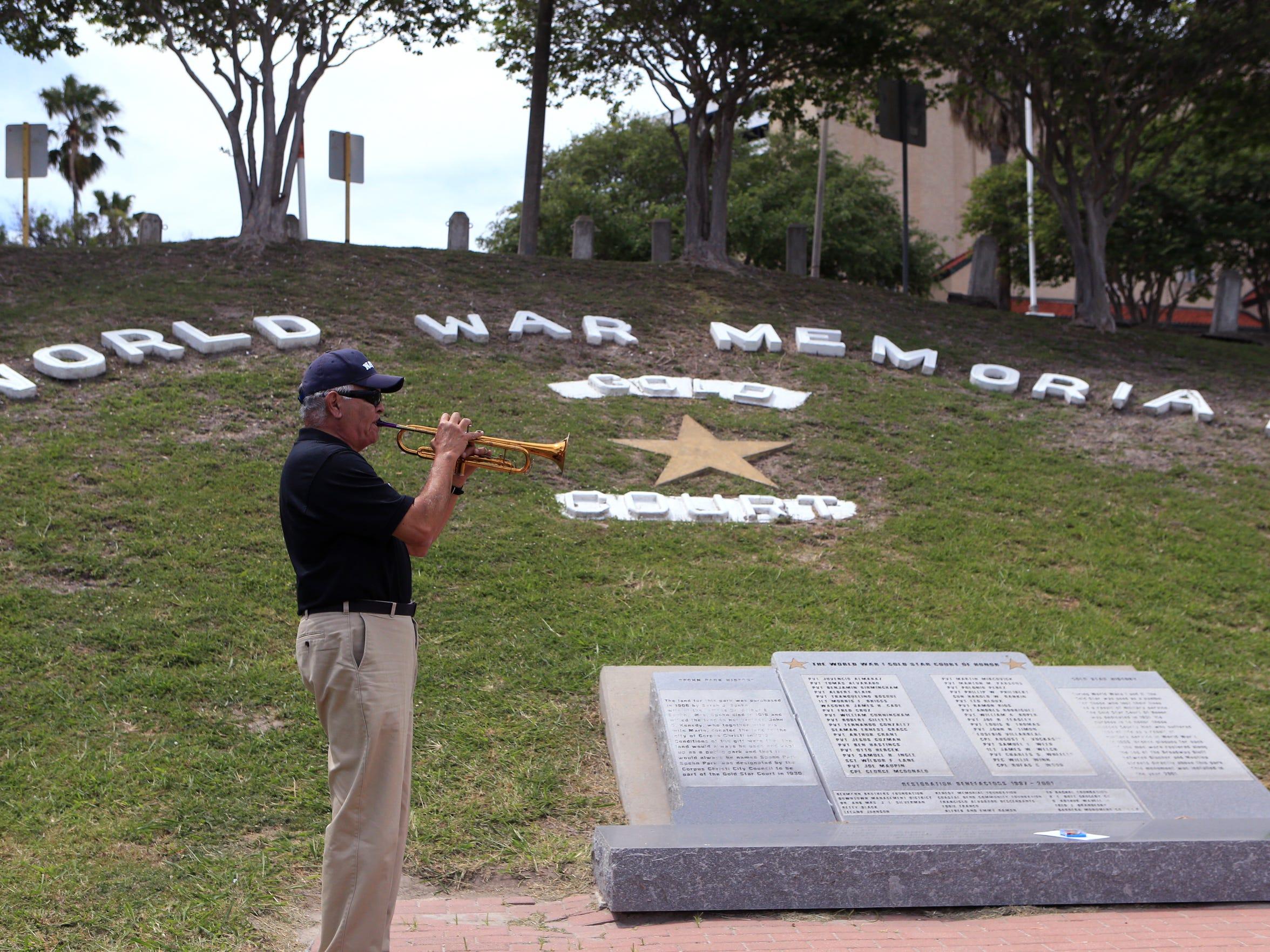 Al Rivera, a member of the Veterans Band of Corpus