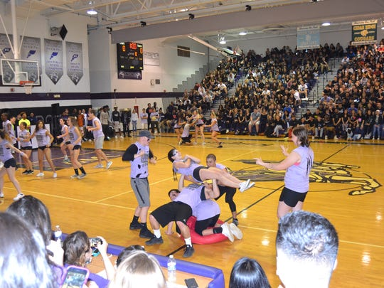 The junior class competed against the senior class in activities at Old Bridge High School.