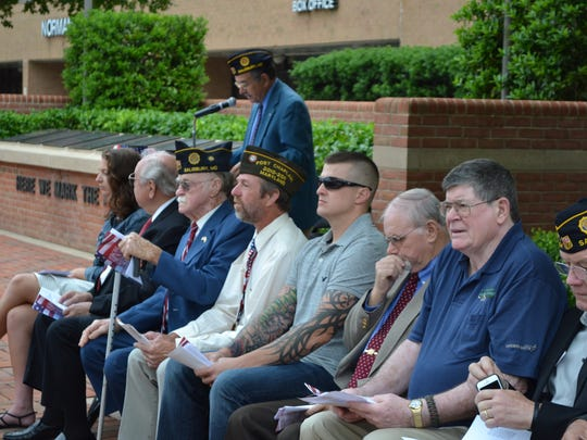 Retired Army Maj. Gen. Anthony Sarbanes speaks during a Memorial Day ceremony at the War Veterans Memorial at the Wicomico Youth & Civic Center on Monday, May 29.