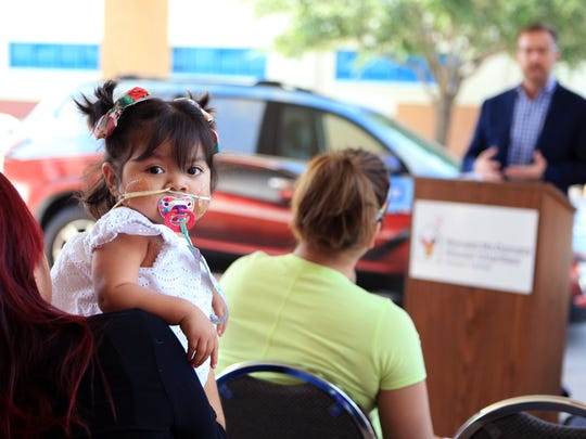 The Juarez family is just one family that will benefit from a new Chevy Traverse that was delivered to Ronald McDonald House Charities Corpus Christi on Tuesday, June 20, 2017. Daniela Juarez, 2, needs a kidney transplant and has been living at the home for the past year.