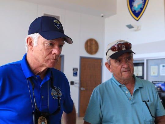 Rockport Mayor C.J. Wax and Aransas County Judge Burt