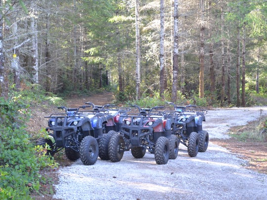 Six quads are available to use at the Tahuya Adventure