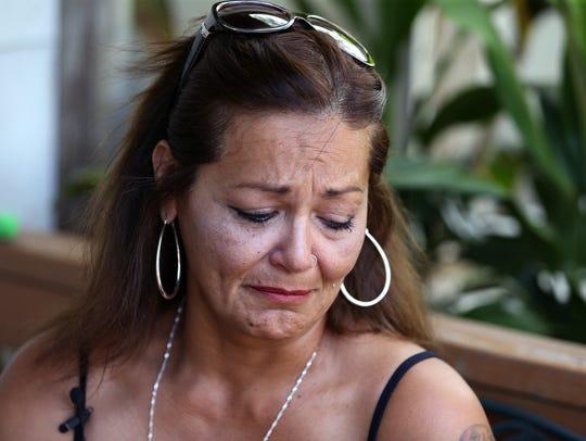 Rachel Denny Clow/Caller-TimesNydia Villarreal tears