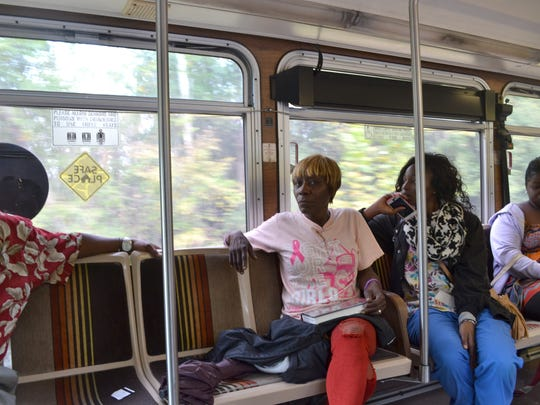 Hinds Community College student Patricia Aaron takes the bus to school from her west Jackson neighborhood. When she finishes her education she wants to start her own business.