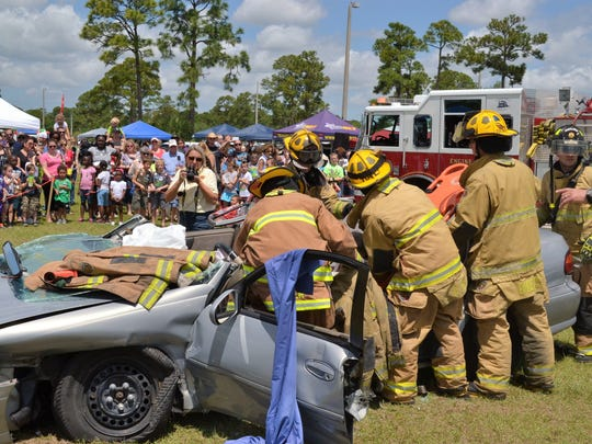 Firefoghters will give a demonstration using the Jaws-of-Life at the April 28 SLC Safety Festival.