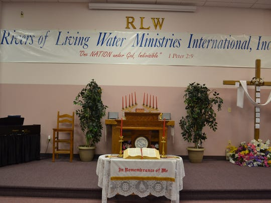 Rivers of Living Waters Cathedral, located on Howland Street in Fremont,serves as the headquarters for Rivers of Living Water Ministries International.