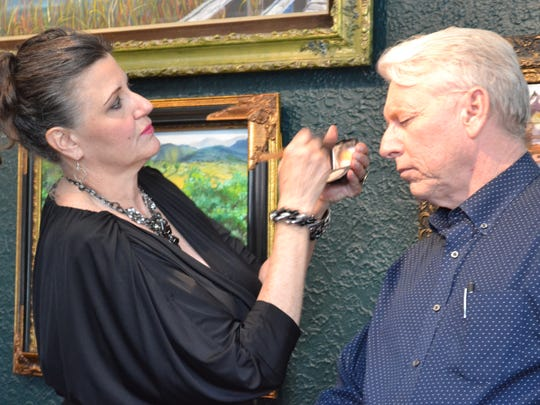 Celebrity stylist Rose Lucas Haninger freshens makeup