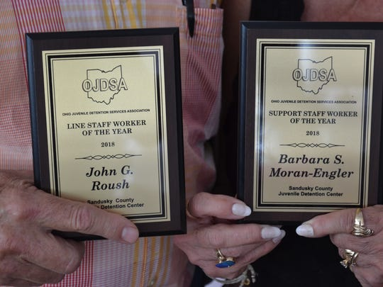These awards represent countless hours Roush and Moran-Engler spent with youth at the Sandusky County Juvenile Justice Center.