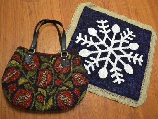 These wool applique works were created by guild member