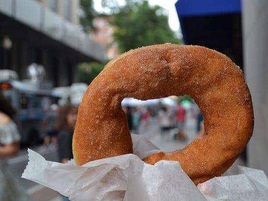 The cinnamon sugar doughnut from Sweet Smuckers Doughnuts