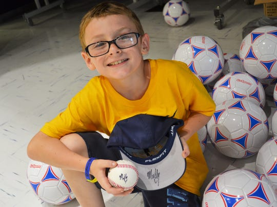 Campers attended a July 16 Mud Hens game for free,