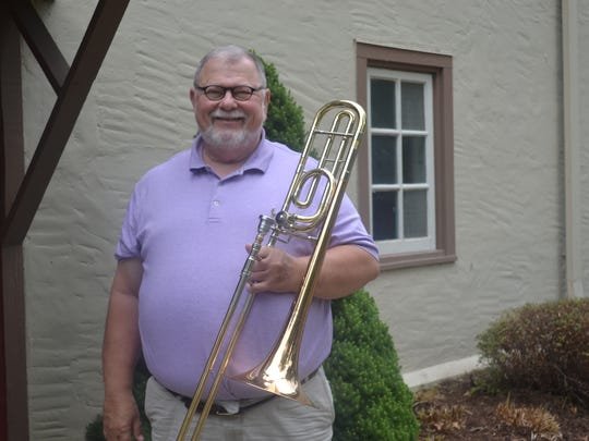 Lakeside Symphony Orchestra second trombonist John Ross is one of five men under consideration as the orchestra's new conductor. Ross has played with the LSO since 1978 and even met his wife at Lakeside.