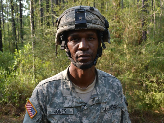 1st Sgt. Jamie Jones, of Pineville, with 3rd Battalion,