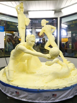 The 48th annual butter sculpture in the Dairy Products Building at the New York State Fair.