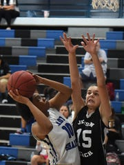 Sebastian River's Keoni Stinson looks to shoot
