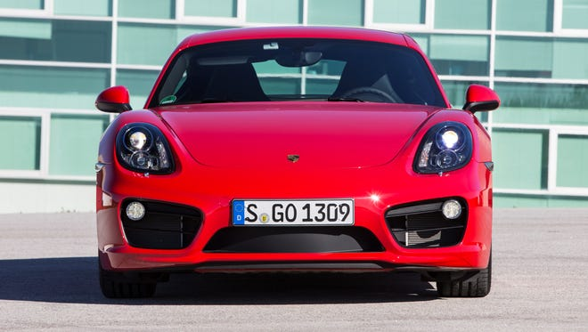 The 2014 Porsche Cayman S accelerates from 0 to 60 mph in 4.7 seconds, motivated by a 3.4-liter flat-six with 325 horsepower.