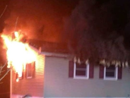 A family of six was displaced early Saturday when after