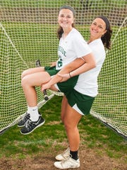 Abigail (16) and senior Alivia (15) Roskovich both played for the Rams girls lacrosse team. STAFF FILE PHOTO