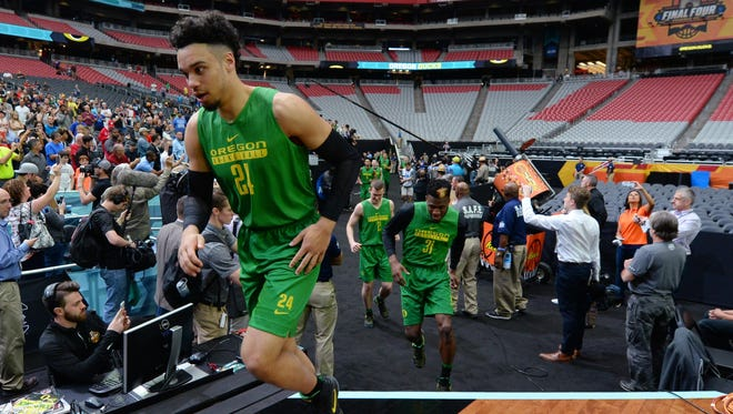 Dillon Brooks and the Oregon Ducks take the court for practice on Friday.