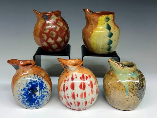 Pottery by Kate Haward, part of the annual pottery show Nov. 4 at Plum Bottom Pottery & Gallery.