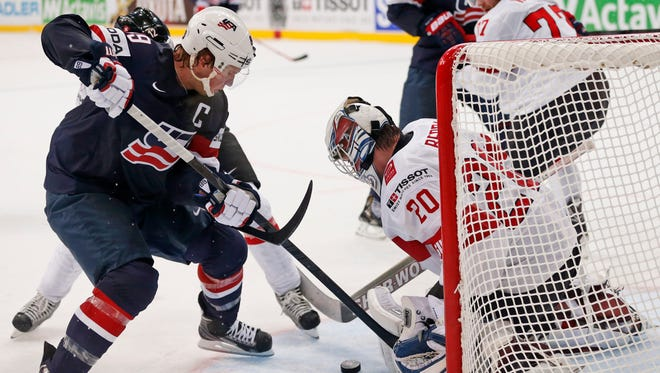 Justin Abdelkader, who served as captain of Team USA at the worlds, will be suspended for three games if he goes next year.
