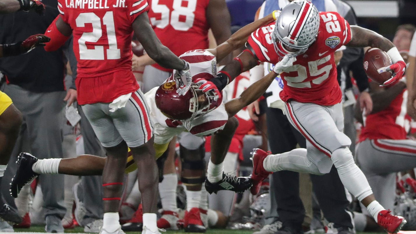 Playoff-snubbed Ohio State 24-7 over USC in Cotton Bowl
