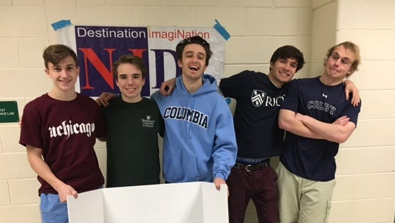 Mountain Lakes High School seniors take first place in the academic Destination Imagination competition and are on their way to the finals.