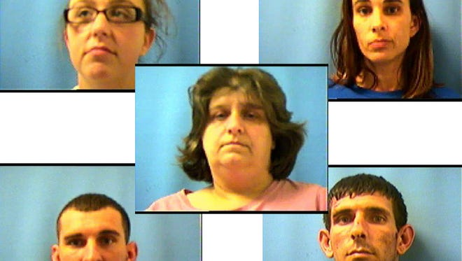 The five arrested in a drug-smuggling operation in St. Mary Parish