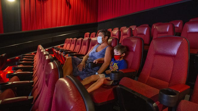 Melissa Miller and her 5-year-old son John popped into Patriot Cinemas at the Hingham Shipyard on Sunday to catch a showing of Sonic the Hedgehog.