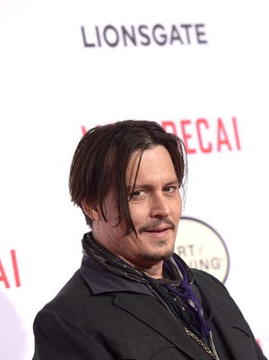 Actor Johnny Depp attends the premiere of Lionsgates's 'Mortdecai' at TCL Chinese Theatre on January 21, 2015 in Hollywood, California.