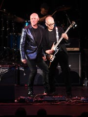 Glenn Gregory (left) and Tony Visconti of Holy Holy perform onstage at The Music Of David Bowie At Radio City Music Hall on April 1, 2016 in New York City.