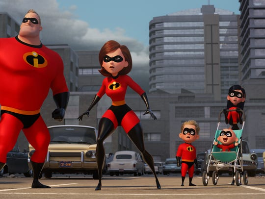 "SUPER FAMILY -- In Disney Pixar's ""Incredibles 2,"""