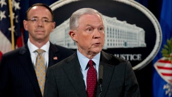 Attorney General Jeff Sessions (right) and Deputy Attorney General Rod Rosenstein.