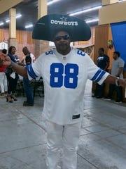 Dallas Cowboys fan Marcus Roberts at Krewe Sobek Coronation.