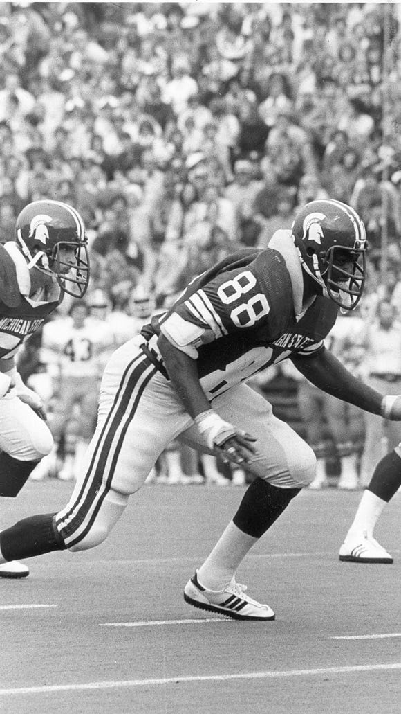 Larry Bethea's 16 sacks in 1977 remain a Michigan State record, as do his 33 career sacks.