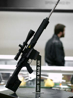 This rifle was displayed at the NRA convention in 2014 held in Indianapolis.